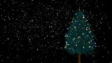 Loopable spinning Christmas tree with snow
