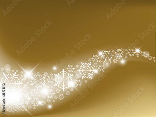 Golden Abstract Christmas background