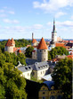 Panoramic view of Tallinn, Estonia