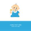 tarjeta felicitación bebé niño