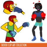 Boxer Clip Art collection poster