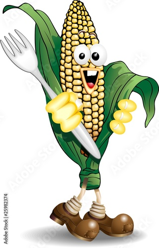 Pannocchia di Mais Cartoon-Corn Cob-Vector