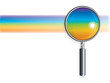 Rainbow And Magnifying Glass