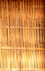 Thai style house wall  made from bamboo