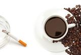 Nicotine and caffeine. poster