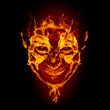 fire devil face