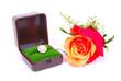 Red rose, diamond ring