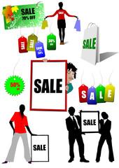 Few sale images. Vector illustration for designers. Shopping
