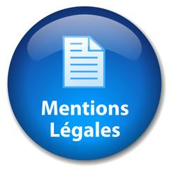 Bouton Web MENTIONS LEGALES (conditions générales loi juridique)