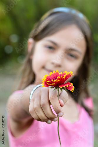 offrir une jolie fleur