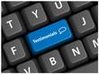 TESTIMONIALS Key on Keyboard (business speech bubbles button)