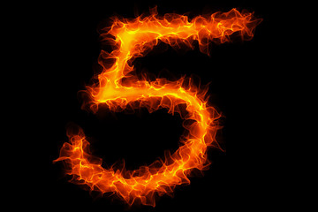 Fire number 5 graffiti