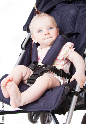 Baby in perambulator
