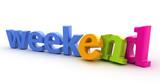 Weekend word. poster