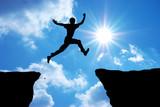 Fototapety Man jump