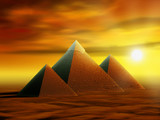 Mysterious pyramids poster
