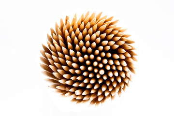Bunch of toothpick isolated on white