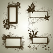 Vector set of frames with Autumn Leafs. Thanksgiving