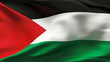 Palestine flag in slow motion