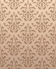 Seamless floral texture in light brown colors