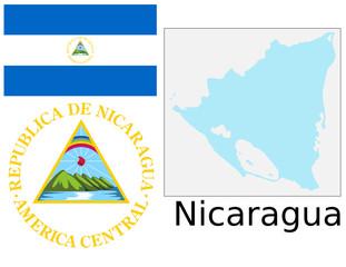 Nicaragua flag national emblem map