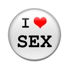 Boton brillante I LOVE SEX