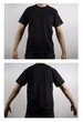 camiseta negra manga corta hombre