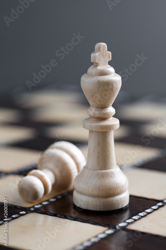 Two white chess