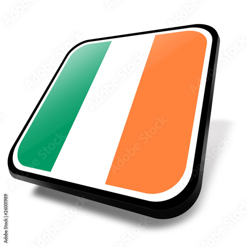 ireland flag, button