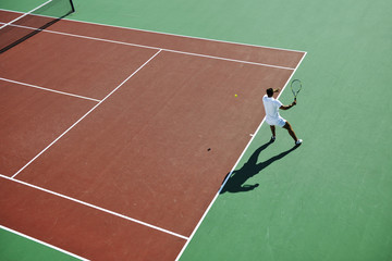 young woman play tennis