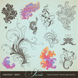 vector set: swirls - handdrawn floral design elements