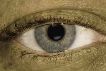 Grungy Eye shot on dual exposures