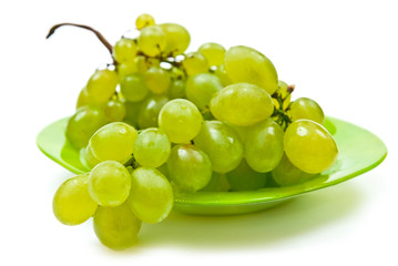 Grape on plate