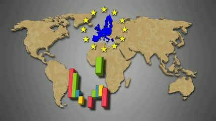 Video motion background: EU statistics