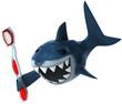 Requin et brosse à dents