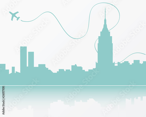 new york city skyline silhouette. New York City skyline,