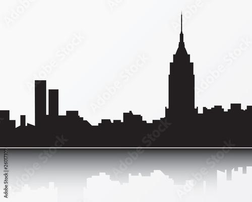 new york city skyline outline. New York City skyline,