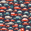 roleta: Car seamless Background