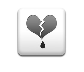Boton cuadrado blanco corazon roto