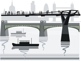 London bridges illustration