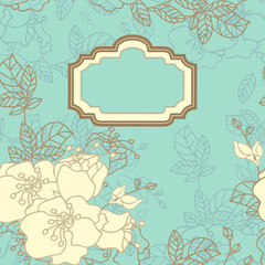 vintage seamless floral card