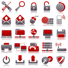 computer Red Icons