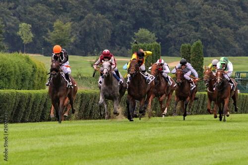 Fotobehang Paardrijden Horse Race Düsseldorf