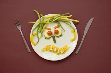 Les légumes en colère