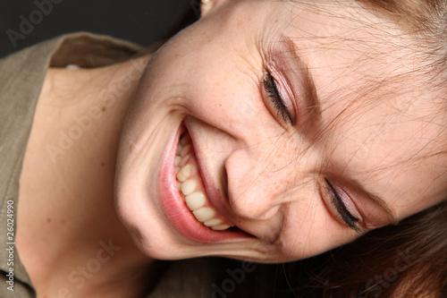 canvas print picture Frau beim Lachen