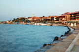 Embankment of old Nesebar -famous Bulgarian resort,Balkans poster
