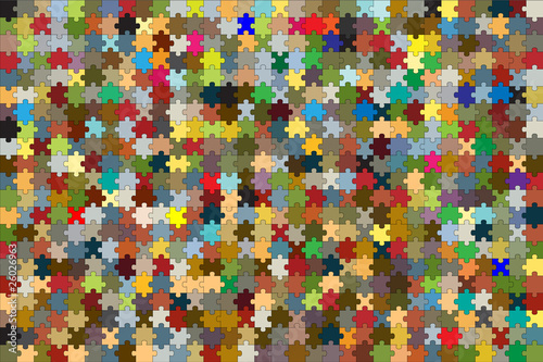 672 puzzle pieces combined in a colorful background