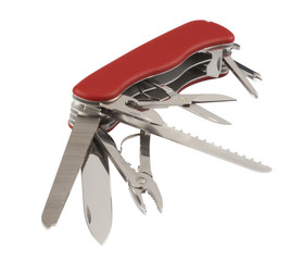 swiss army knife,isolated on white with clipping path
