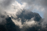 Clouds dancing in front of rock walls in the Tatra Mountains