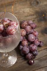 bicchiere con uva